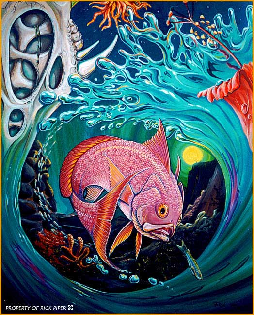 Rick pipers art dreams of fish and water for Dreaming of fish
