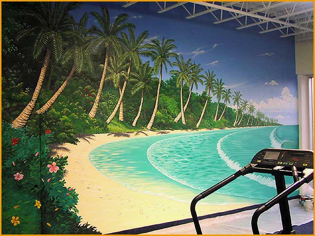 The North WallMural in Cocoa Beach Family Fitness