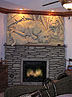 Prop Stone Fireplace Sculpture